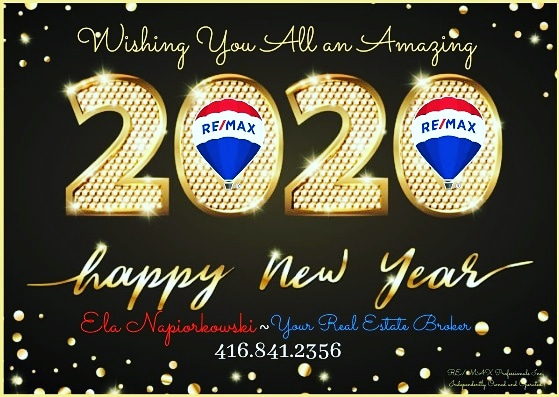 Happy New Year from Ela Napiorkowski and ReMax real estate
